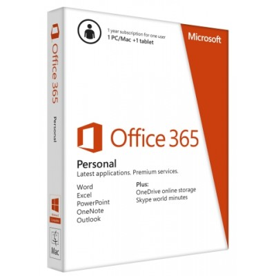 Office 365 Personal 32-bit/x64 English Subscr 1YR APAC EM Medialess(QQ2-00036)